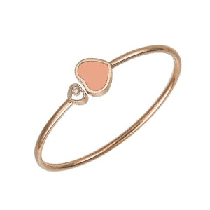 Chopard - HAPPY HEARTS BANGLE RG LRGE ROSE STONE