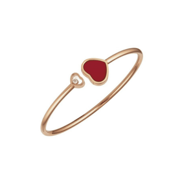 Chopard - BANGLE HAPPY HEARTS RED INLAY SIZE: L
