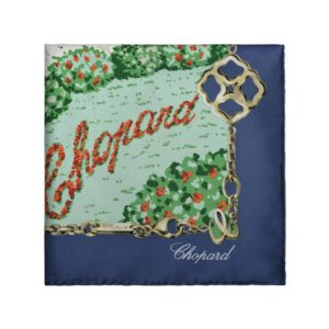 Chopard - GENEVE PEACOCK BLUE SCARF