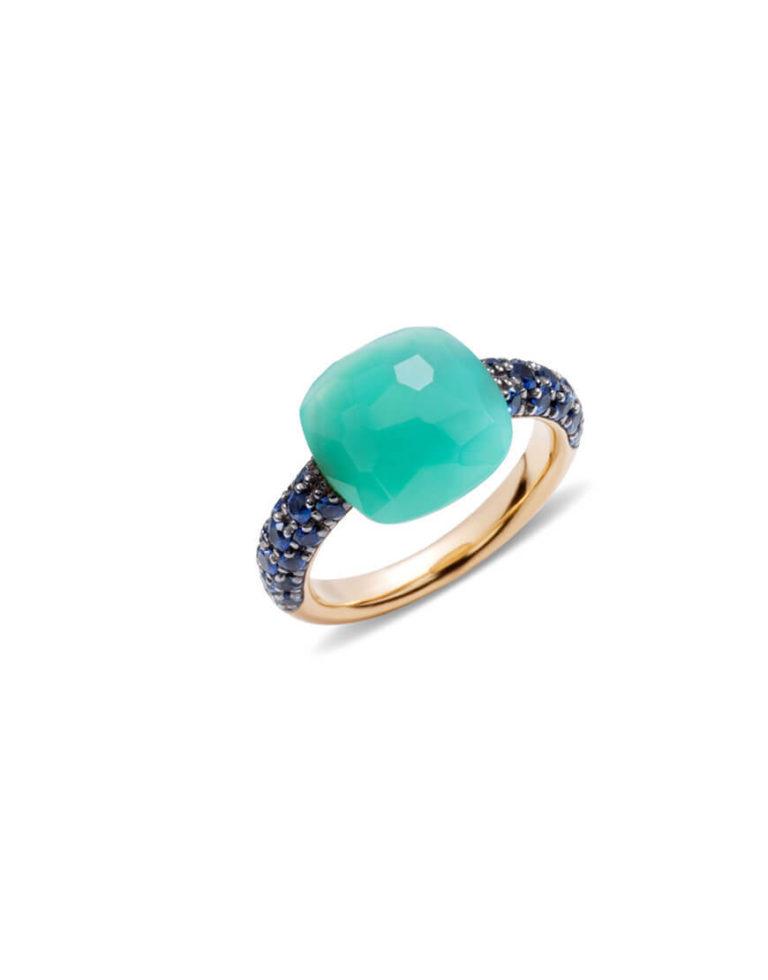 Pomellato - RING CAPRI PG CHRYS BLUE SAPPH