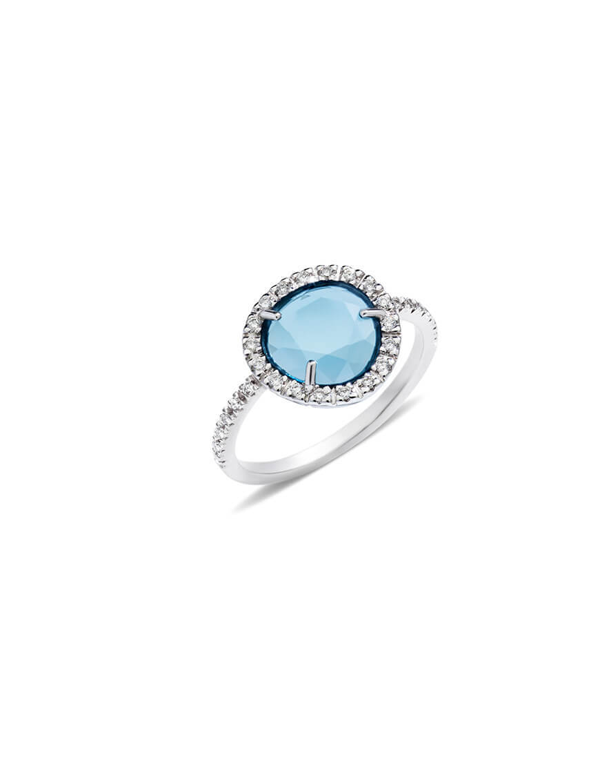 Pomellato - RING CDF WG BLUE TOPAZ DIAMS