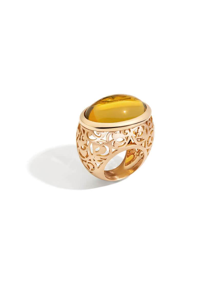 Pomellato - ARABESQUE RG MATT RING AMBER