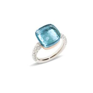Pomellato - NUDO WG/RG DIAMONDS BLUE TOP
