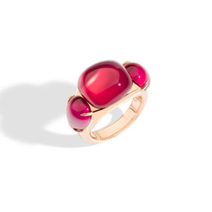 Pomellato - PRP SYNTH RUBY RG RING 54