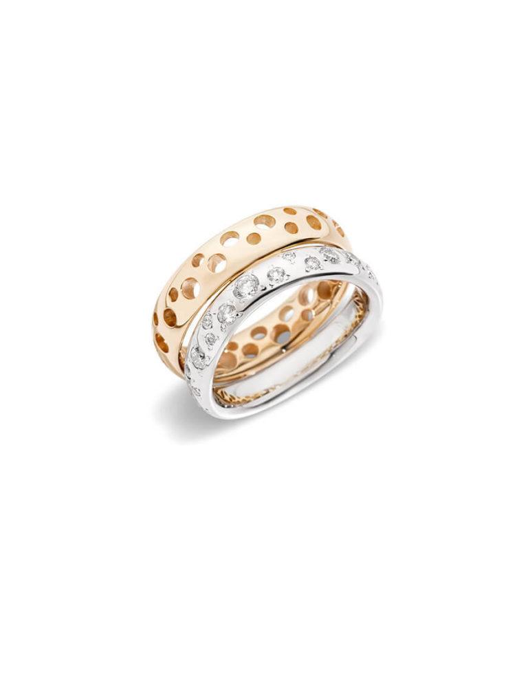 Pomellato - MILANO RING RG/WG DIAMONDS