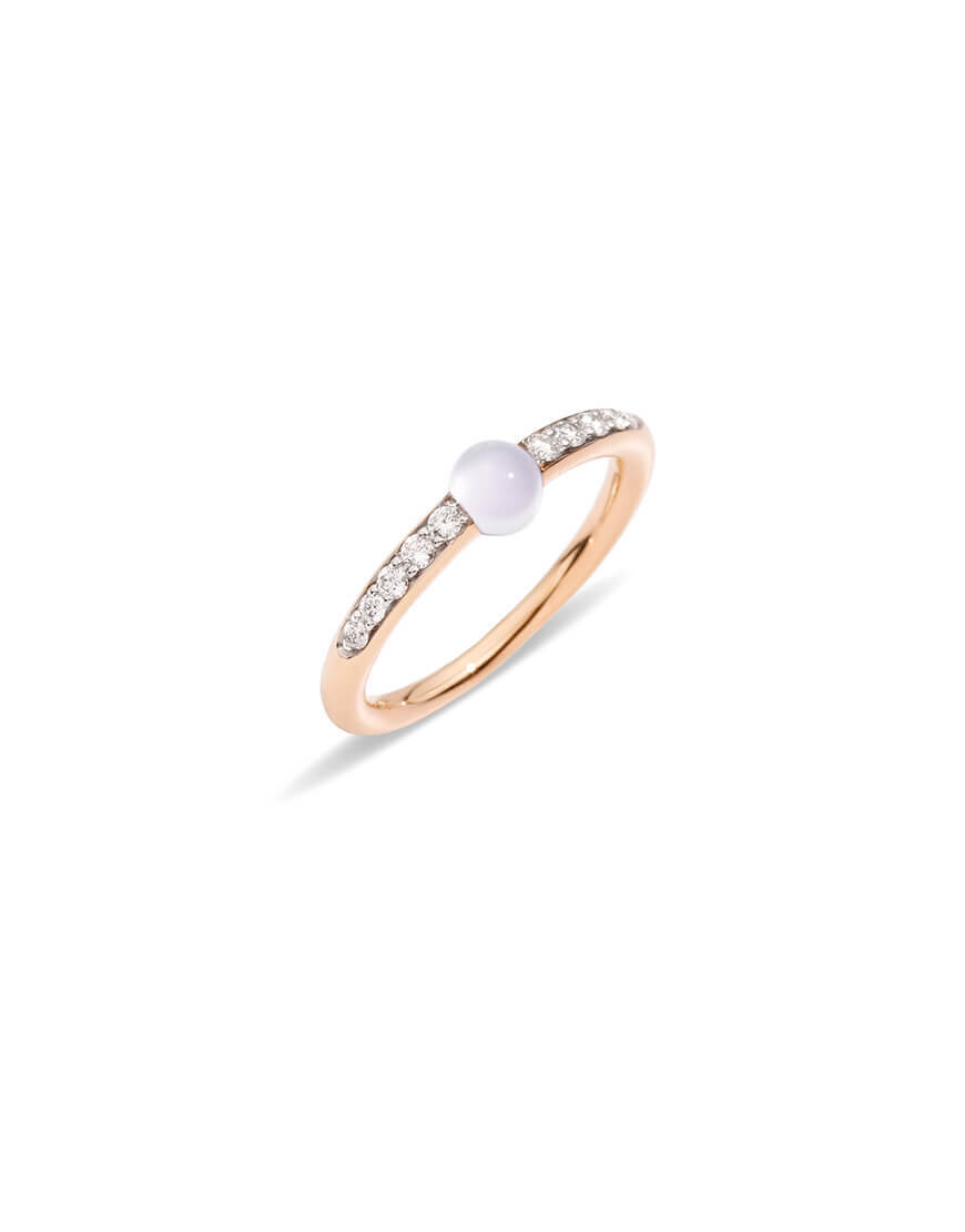 Pomellato - MNM RING RG MOONSTONE AND DIAM