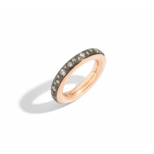 Pomellato - ICONICA RING SMALL RG BROWN DIAMONDS