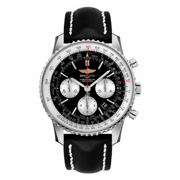 Breitling - NAVITIMER 01 BLK/SILV SUB LEAT TANG
