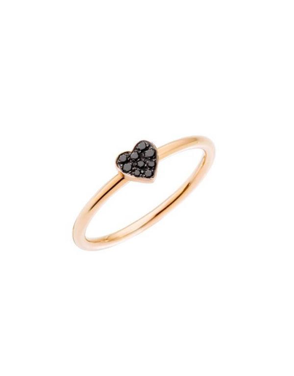 Dodo - HEART RING RG BLACK DIAMONDS