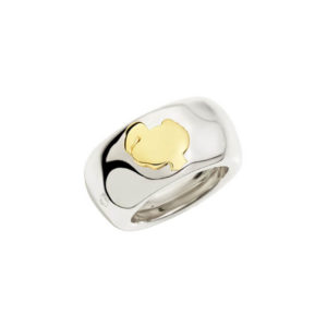 Dodo - BAND RING SILVER & YG DODO