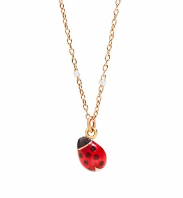 Dodo - MINI LADY BUG NECKLACE RG/WG 40CM