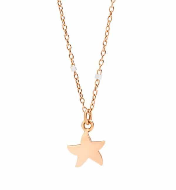 Dodo - MINI STAR NECKLACE RG/WG 40CM