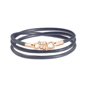 Dodo - NODO BRACELET RG 18 GREY LEATHER