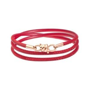 Dodo - NODO BRACELET RG 18 BURGUNDY LEATHER