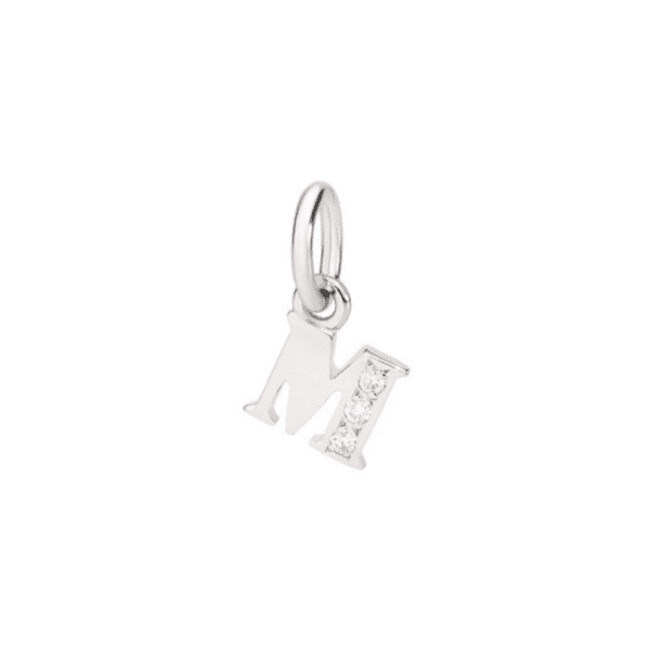 Dodo - WG LETTER CHARM M DIAMONDS 18CT