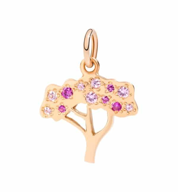 Dodo - CHERRY TREE CHARM RG WITH PINK SAPPHIRES