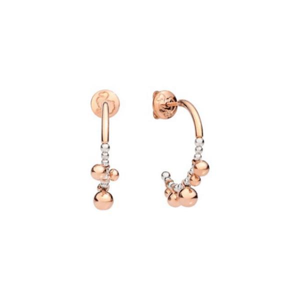 Dodo - EARRINGS BOLLICINE HOOP RG PAIR W/SILV S