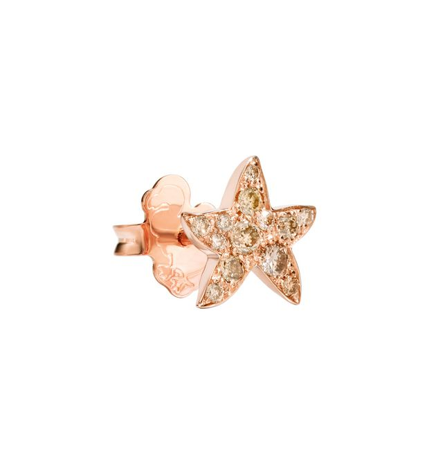 Dodo - RG EARRING STARFISH BROWN DIAM