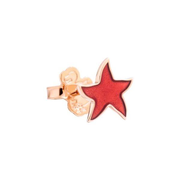 Dodo - STAR STUD EARRING - CORAL TRANSP