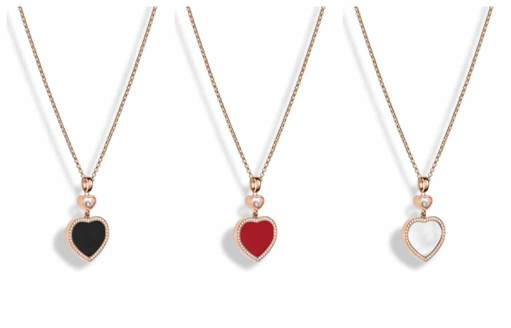Happy Hearts with diamonds pendant