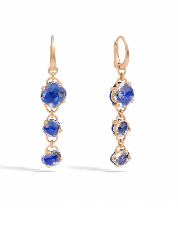 Pomellato - CAPRI EARRINGS LAPIS ROCK CRY