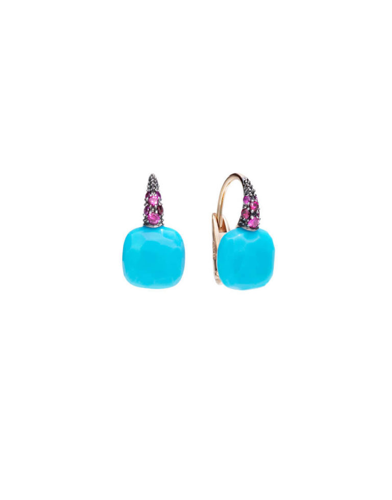 Pomellato - EARRINGS CAPRI RG TURQ RUBIN
