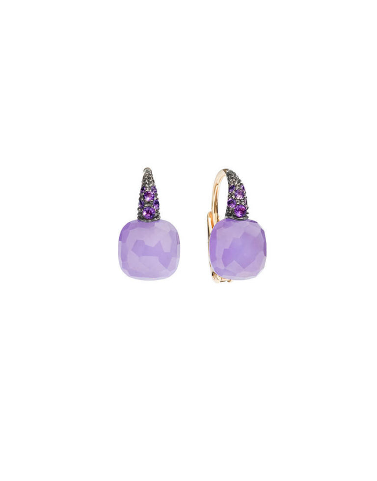 Pomellato - CAPRI EARRINGS RG LAV & JADE