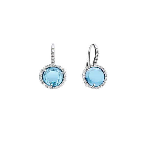 Pomellato - EARR CDF WG OVAL BLUE TOP DIAM