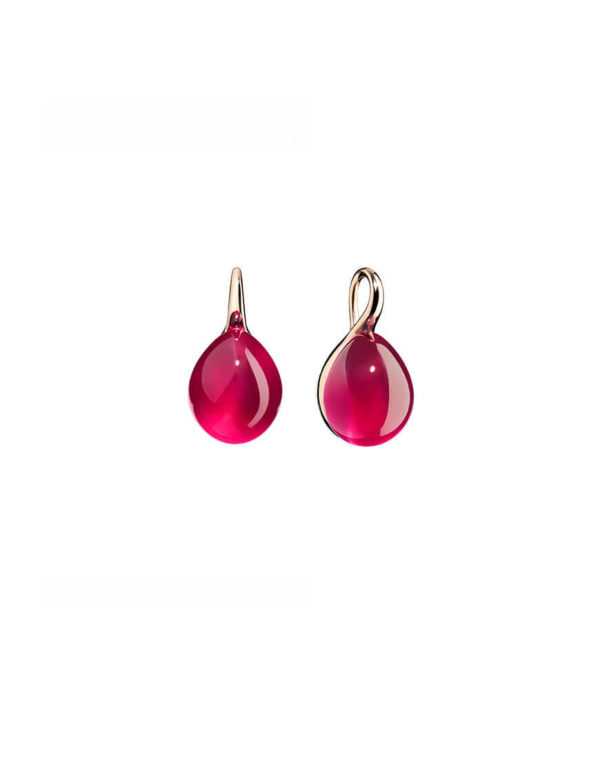 Pomellato - ROUGE PASS. SYNTH RUBY EARRING