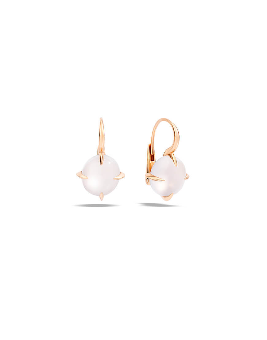Pomellato - VELENO EARRINGS RG WHITE TOP