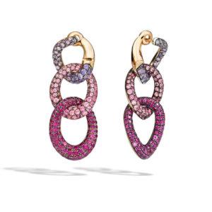Pomellato - TANGO EARRINGS RG SAPP & RUBY