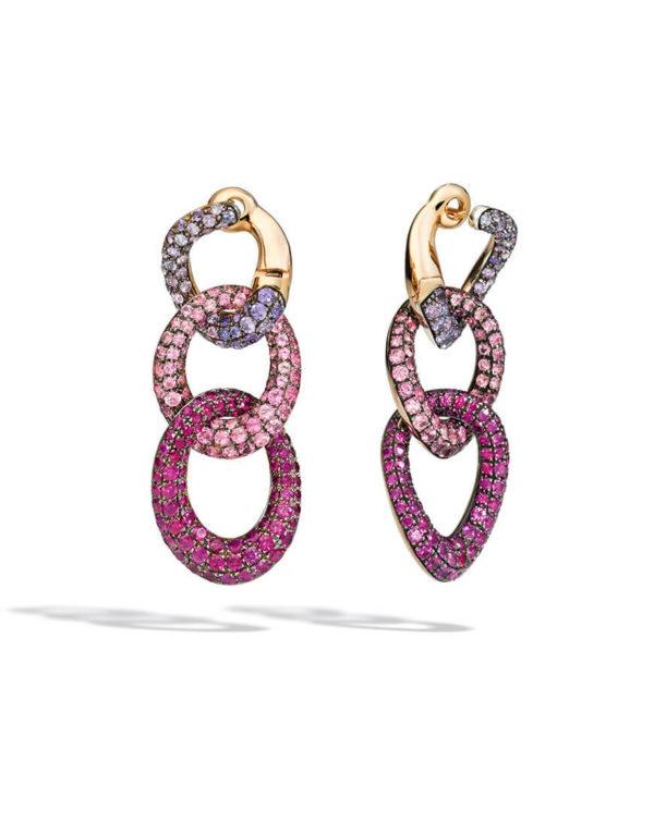 Pomellato - TANGO EARRINGS RG SAPP & RUBY