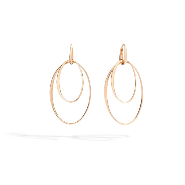 Pomellato - EARRINGS GOLD CONCENTRIC RG