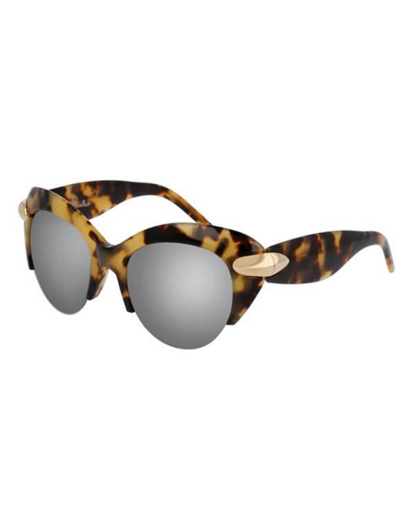 Pomellato - SUNGLASSES POM LAD AVANA/SLV CAT EYE