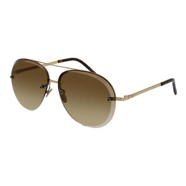Pomellato - SUNGLASSES POM LAD METAL GD/BRN AVIATO