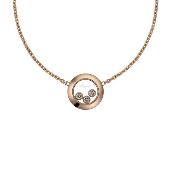 HAPPY DIAMONDS NECKLACE ROSE GOLD