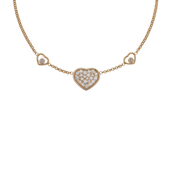 HAPPY HEARTS NECKLACE ROSE GOLD